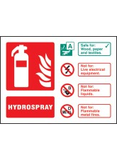 Hydrospray Extinguisher Identification