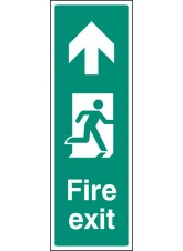 Fire Exit - Up / Straight on (Portrait)