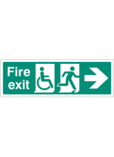 Disabled Fire Exit - Arrow Right
