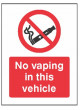 No vaping in this vehicle