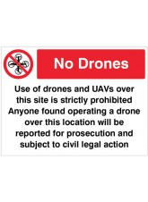 Drones Prohibited in this Area