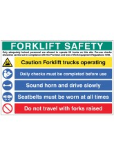 Forklift Safety Multi Message Board
