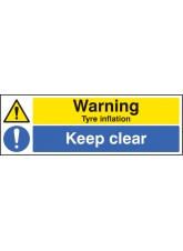 Warning Tyre Inflation Keep Clear