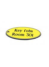 Yellow Key Fob - Oval