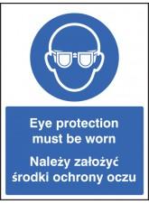 Eye Protection Must Be Worn (English/polish)