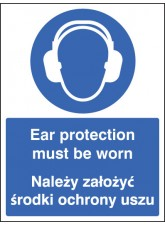 Ear Protection Must Be Worn (English/polish)