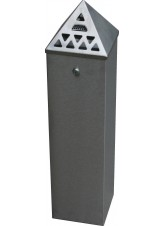 Floor Standing Cigarette Bin (800mm Height) x (200 x 200mm Base)