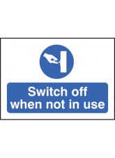 Switch Off When Not in use - Self Adhesive Vinyl - 35 x 25mm