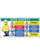 Site Safety - Banner with Eyelets (as 58037)