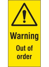Out of Order - Cover-Up Sign