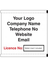 Scaffold Company Banner with Wallet for License No Insert (with Loops)