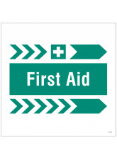 First Aid, Arrow Right - Site Saver Sign - 400 x 400mm