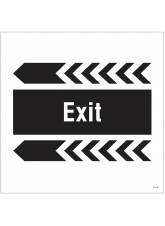 Exit, Arrow Left - Site Saver Sign - 400 x 400mm