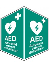 AED Emergency Defibrillator - Projecting Sign