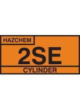 2SE Cylinder Storage Placard Aluminium