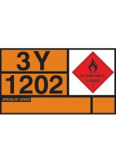 Hazchem Placard - Diesel/gas Oil Self Adhesive Vinyl