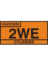 2WE Cylinder Storage Placard - Self Adhesive Vinyl