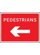 Fold Up Sign - Pedestrians Arrow Left/Right - 600 x 450mm