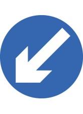 Fold Up Sign - Keep Left - 600mm Diameter