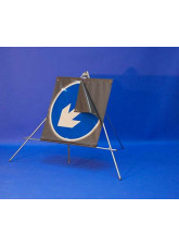 Keep left/right reversible arrow reflective fold up sign