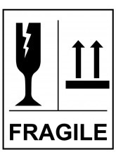 250 x Fragile Glass this Way Up Self Adhesive Labels - 75 x 100mm