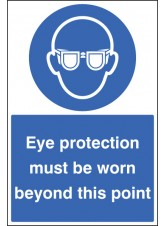 Eye Protection Must Be Worn - Floor Graphic