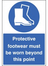 Protective Footwear Must Be Worn - Floor Graphic