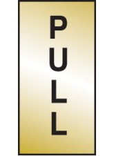 Pull - Engraved Brass Effect
