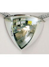 Quarter Dome Mirror to View 2 Directions - 410mm Diameter - 90Degrees