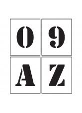 Stencil Kit - A-Z & 0-9 - 25mm