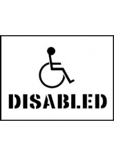 Stencil Kit - 400 x 300mm - Disabled