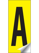Identification Letters A-Z - 38 x 90mm