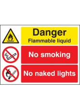Danger Flammable Liquid No Smoking No Naked Lights