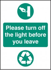 Please Turn Off Light Before You Leave