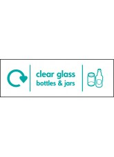WRAP Recycling Sign - Clear Glass Bottles & Jars