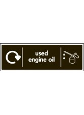 WRAP Recycling Sign - used Engine Oil
