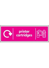 WRAP Recycling Sign - Printer Cartridges